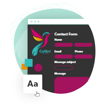 custom designable contact forms