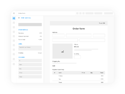 formular-gestaltungstool mit Zahlungsintegrationen