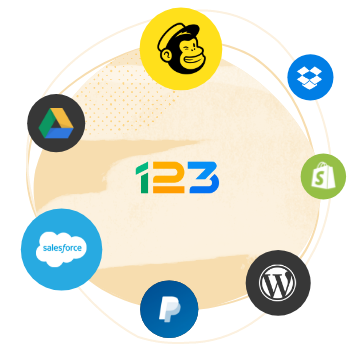 integrations du 123 form builder