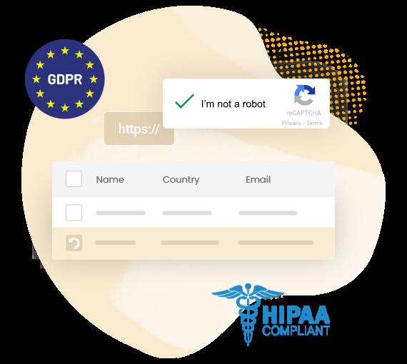 des données sécurisées gdpr hipaa