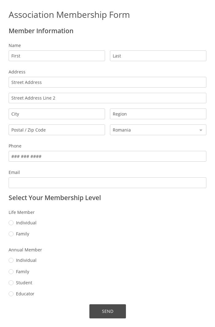 Association Membership Form