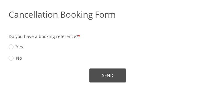 Cancellation Booking Form