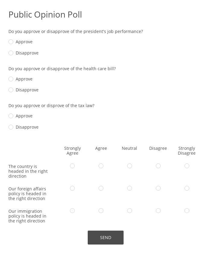 Encuesta de Opinion Publica