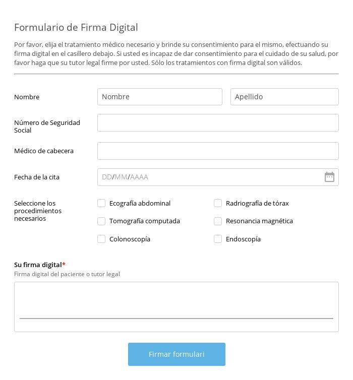 Formulario de Firma Digital