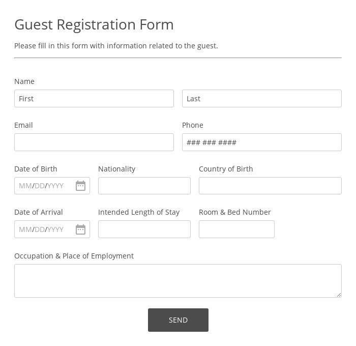 Guest Registration Form