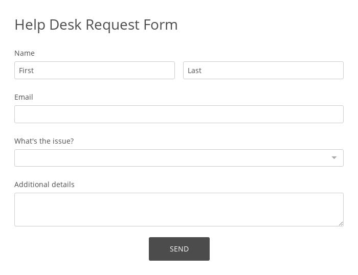 Help Desk Request Form