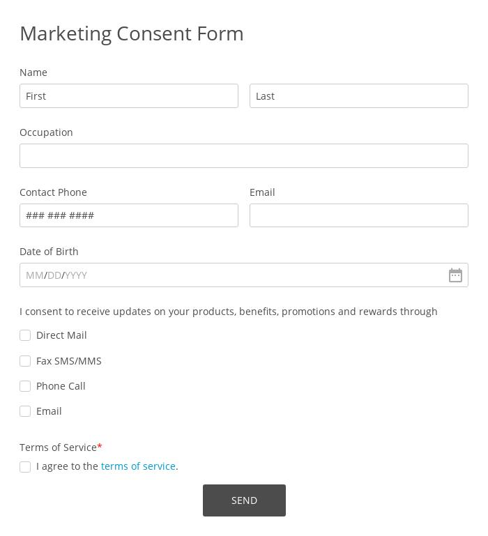 Marketing Consent Form