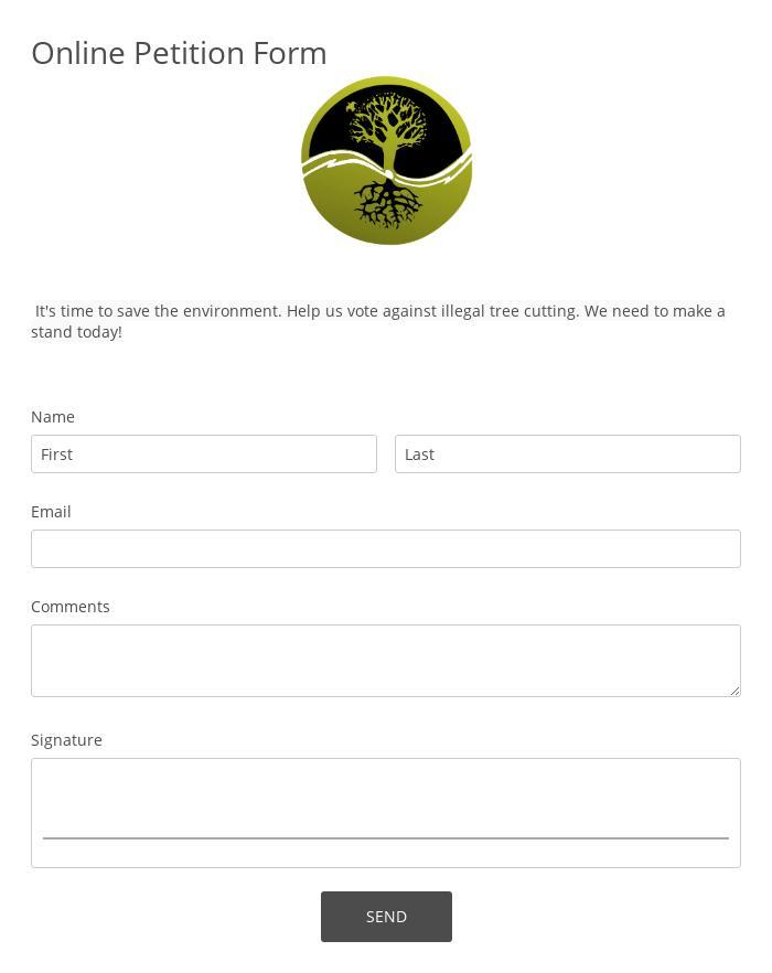 Online Petition Form