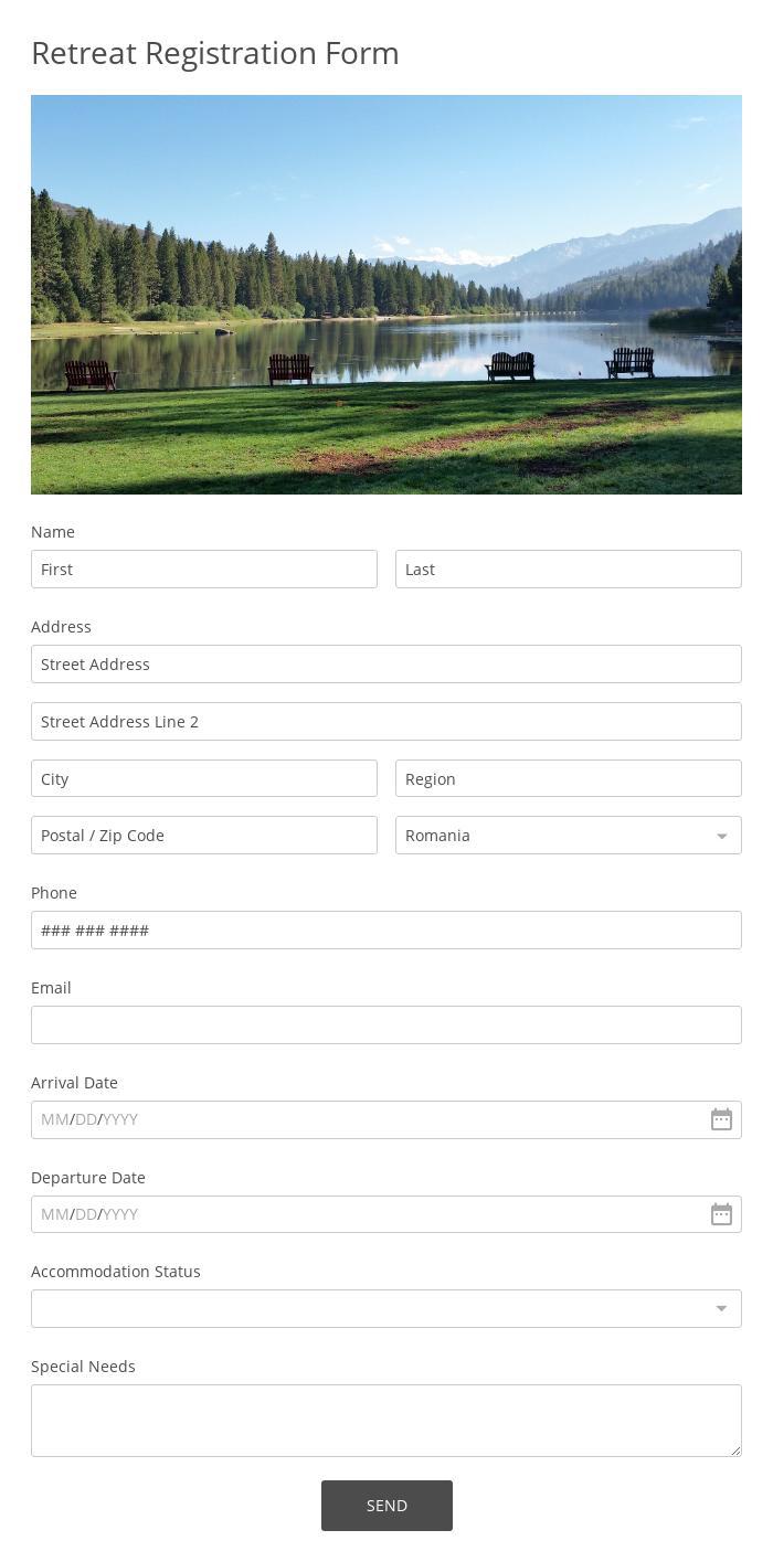 Retreat Registration Form