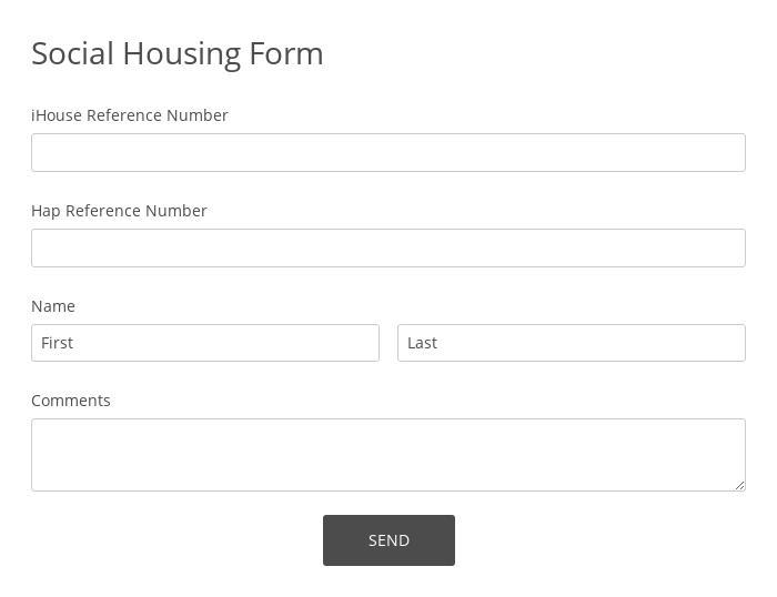 Social Housing Form
