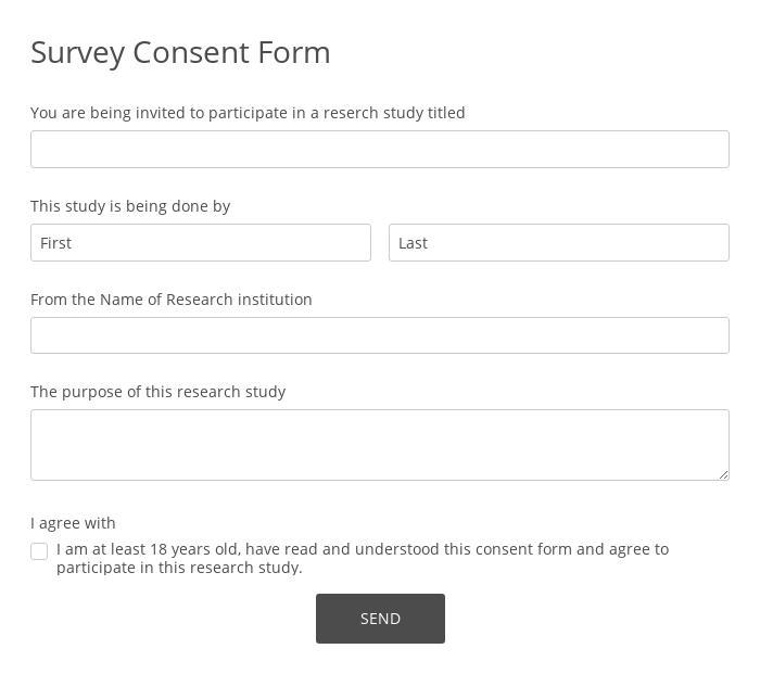 Survey Consent Form