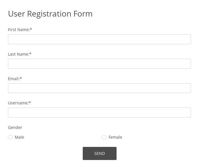 User Registration Form