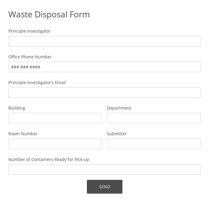 Waste Disposal Form