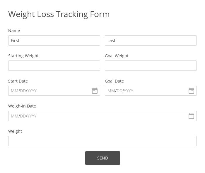 Weight Loss Tracking Form