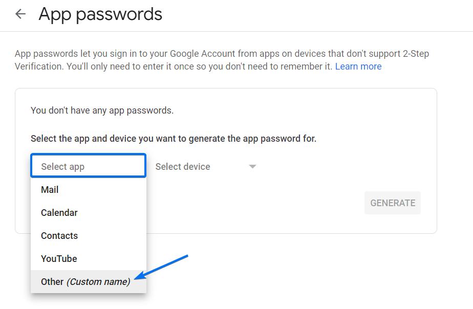 App Passwords