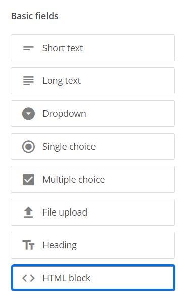 HTML Block field