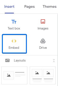 Google Sites Embed