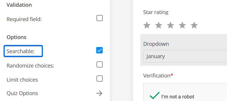 Searchable Dropdown