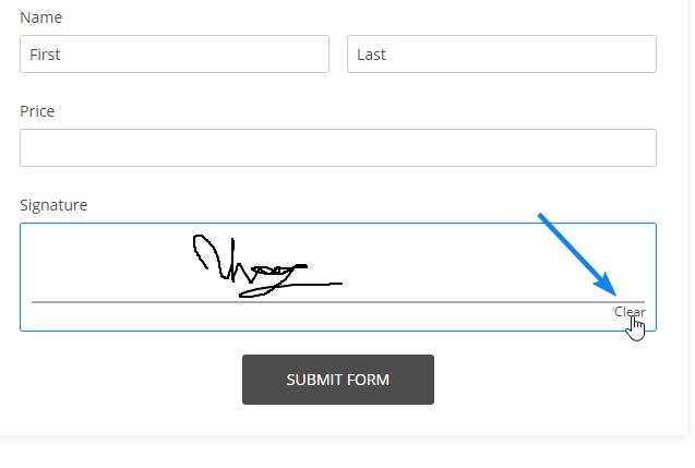 Clear signature