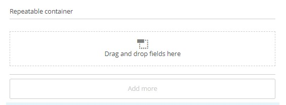 Drag and drop fields