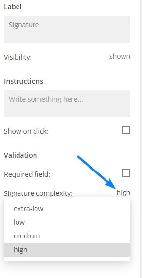 Signature complexity
