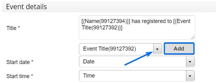 Calendar event details