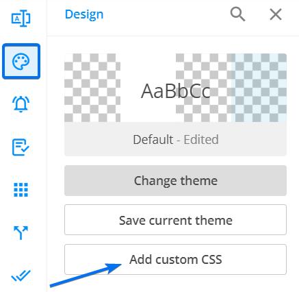 Design Add custom CSS