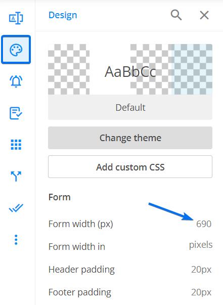 Design form width