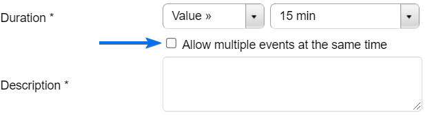 Allow multiple events