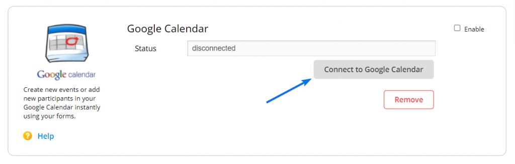 Google Calendar connect