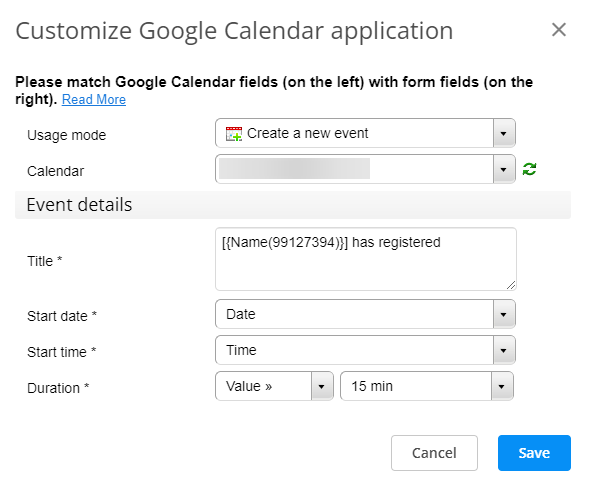 Google Calendar customize