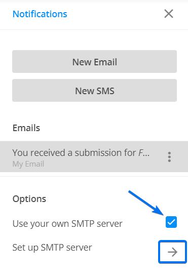 Notifications SMTP