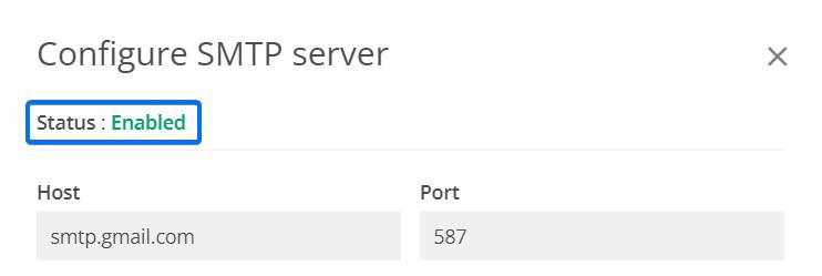 SMTP status