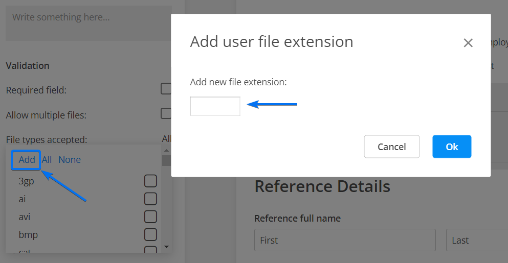 Add new file extension