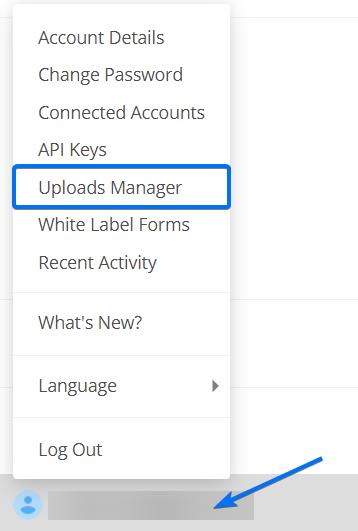 Uploads Manager