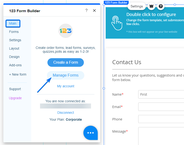 Wix Manage Forms